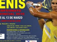 Campeonato provincial 2016 TENIS