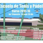 Escuela de Tenis y Pádel 2015-2016