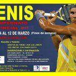 TENIS – Campeonato provincial 2017
